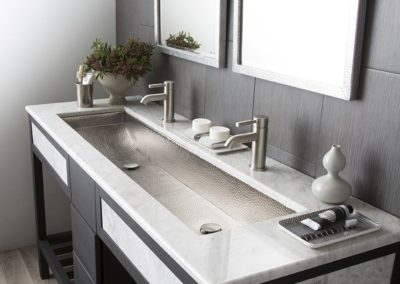 Bathroom Vanity With Trough Sink Modern Rectangular Trough Bathroom Sinks | Native Trailsi41